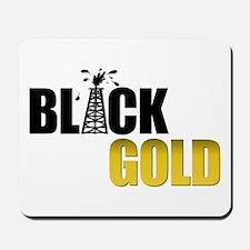 Black Gold Oil Mousepad
