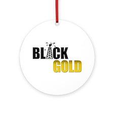 Black Gold Oil Ornament (Round)