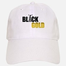 Black Gold Oil Baseball Baseball Cap