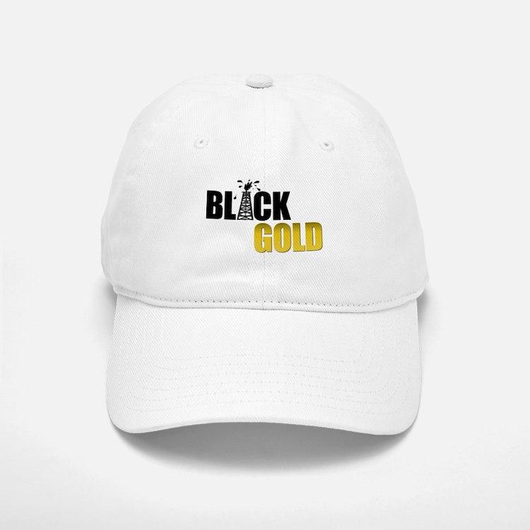 Black Gold Oil Baseball Baseball Cap
