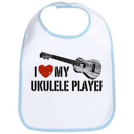 I Love My Ukulele Player Bib