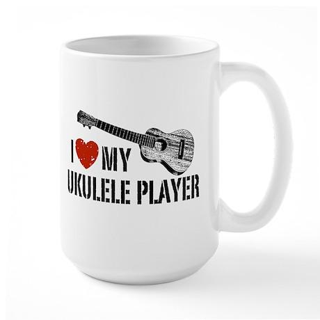 I Love My Ukulele Player Large Mug