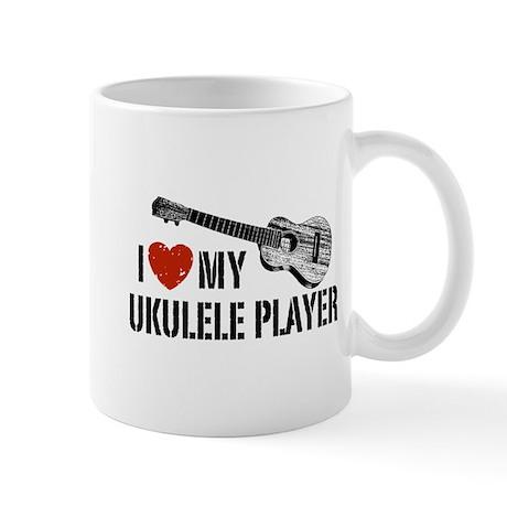 I Love My Ukulele Player Mug
