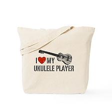 I Love My Ukulele Player Tote Bag