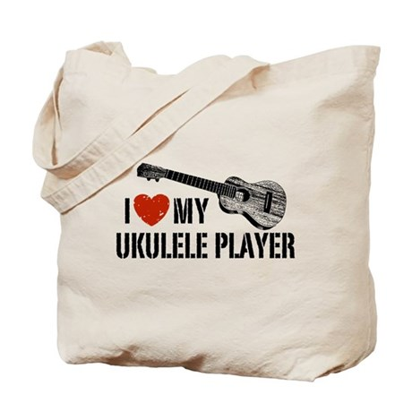 I Love My Ukulele Player Tote Bag