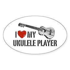 I Love My Ukulele Player Decal