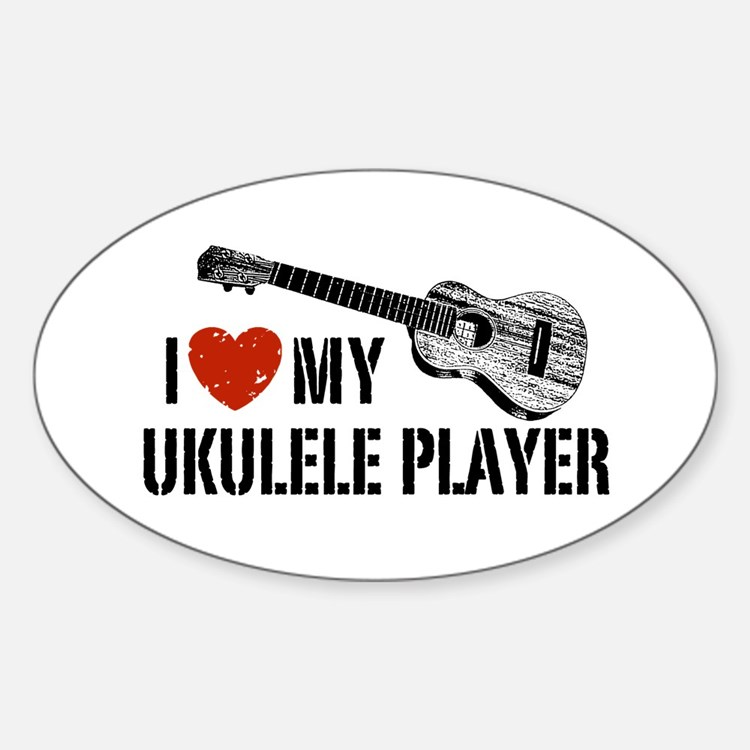 I Love My Ukulele Player Decal