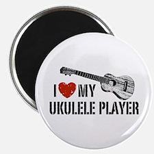 I Love My Ukulele Player Magnet
