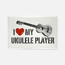 I Love My Ukulele Player Rectangle Magnet