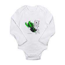 Snowmobile Cat in Color Green Long Sleeve Infant B