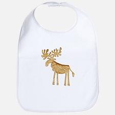 Holiday Moose Bib