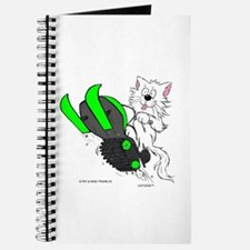 Snowmobile Cat in Color Green Journal
