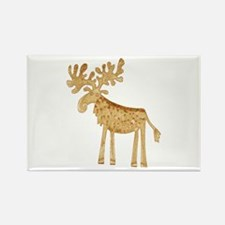 Holiday Moose Rectangle Magnet