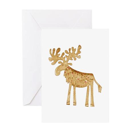 Holiday Moose Greeting Card
