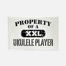 Property of a Ukulele Player Rectangle Magnet