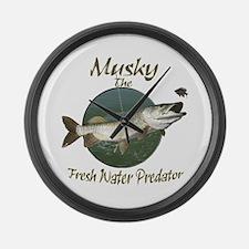 Musky,Predator Large Wall Clock