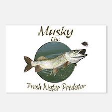 Musky,Predator Postcards (Package of 8)