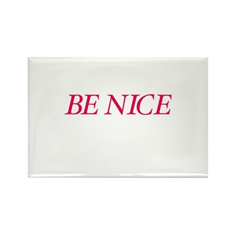 Be Nice Rectangle Magnet (10 pack)