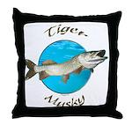 Tiger musky Throw Pillow