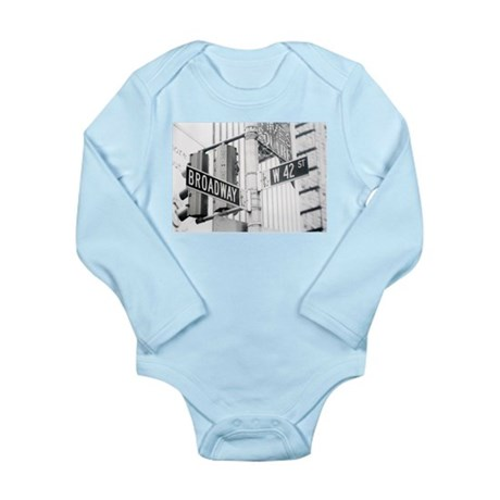 NY Broadway Times Square - Long Sleeve Infant Body