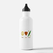 Peace,Luv,Kayak Water Bottle