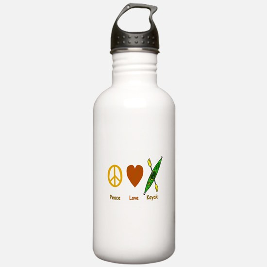 Peace,Luv,Kayak Water Bottle