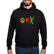 Peace,Luv,Kayak Hoodie