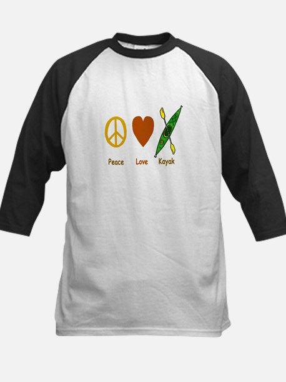 Peace,Luv,Kayak Kids Baseball Jersey
