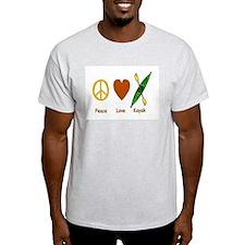 Peace,Luv,Kayak T-Shirt