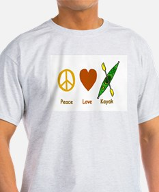 Peace,Luv,Kayak T-Shirt