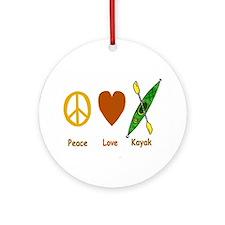 Peace,Luv,Kayak Ornament (Round)