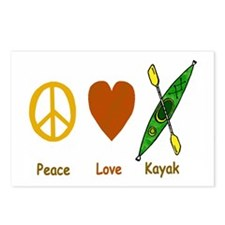 Peace,Luv,Kayak Postcards (Package of 8)