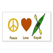 Peace,Luv,Kayak Decal