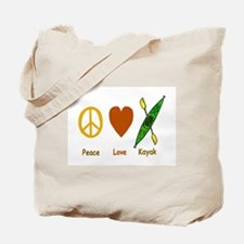 Peace,Luv,Kayak Tote Bag