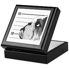 Black Bulldog Keepsake Box