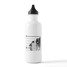 Black Bulldog Water Bottle
