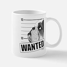 Black Bulldog Wanted Mug