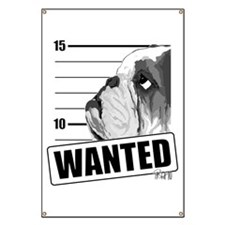 Black Bulldog Wanted Banner