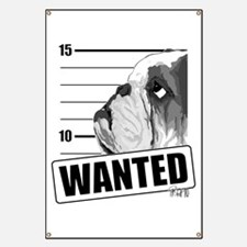 Black Bulldog Wanted Banner