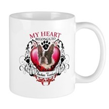 My Heart Belongs to a Boston Terrier Small Mugs
