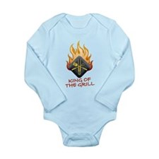 Grill Master Long Sleeve Infant Bodysuit