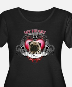 My Heart Belongs to a Pug T