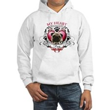 My Heart Belongs to a Pug Hoodie