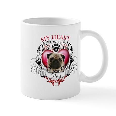 My Heart Belongs to a Pug Mug