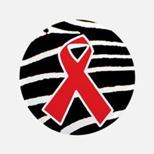 """Red Ribbon Awareness 3.5"""" Button (100 pack)"""