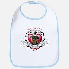 My Heart Belongs to a Rottweiler Bib