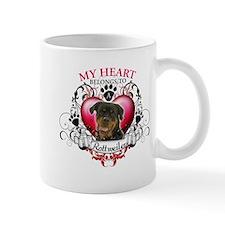 My Heart Belongs to a Rottweiler Mug