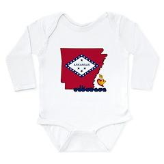 ILY Arkansas Long Sleeve Infant Bodysuit