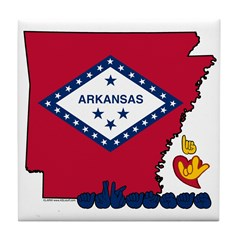 ILY Arkansas Tile Coaster