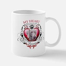 My Heart Belongs to a Weimer Mug